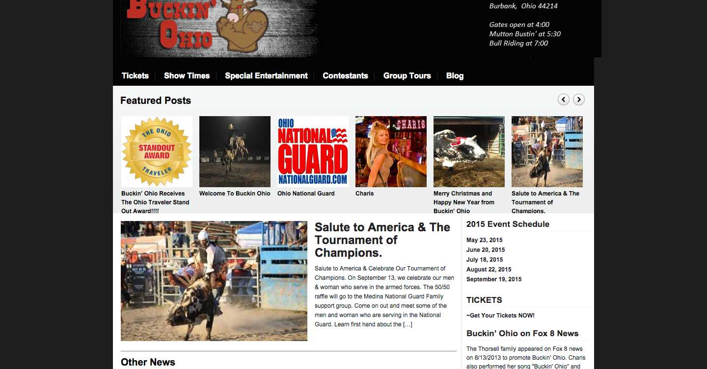 Website Redesign- Buckin' Ohio