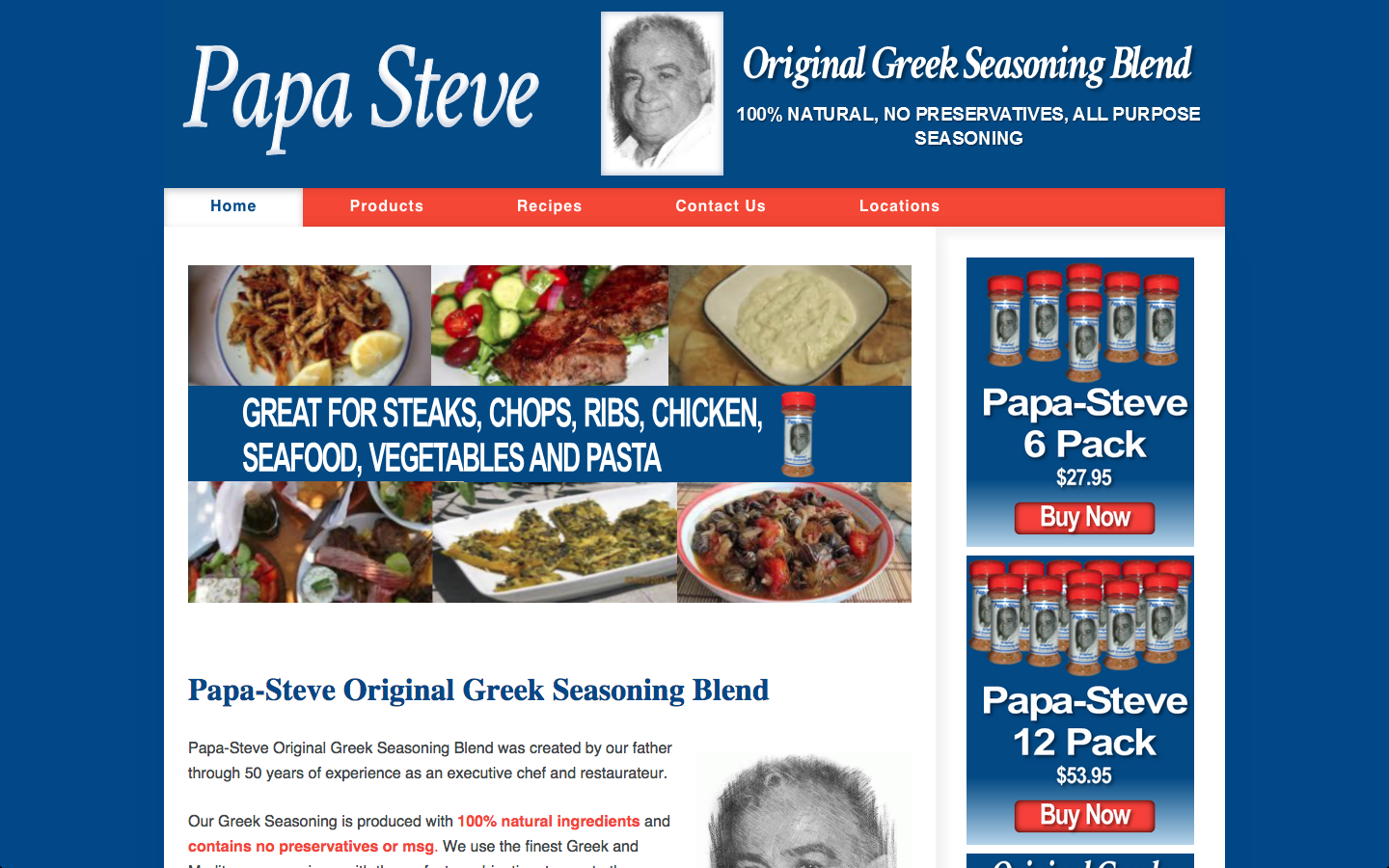Website Redesign – Restaurant Supplies