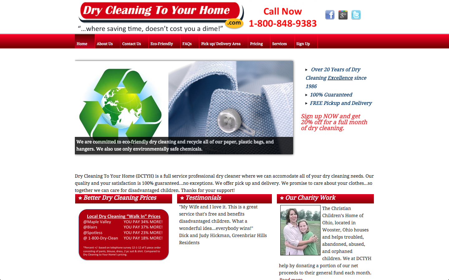 Website Redesign – Akron Dry Cleaner
