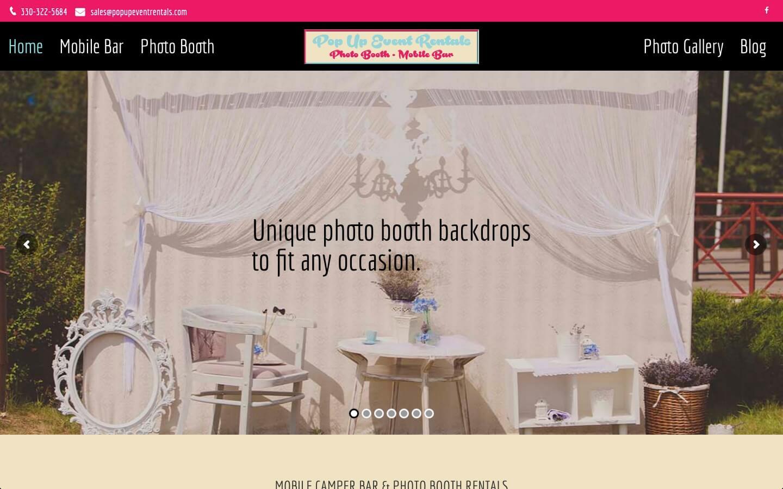 Event Rentals Web Design