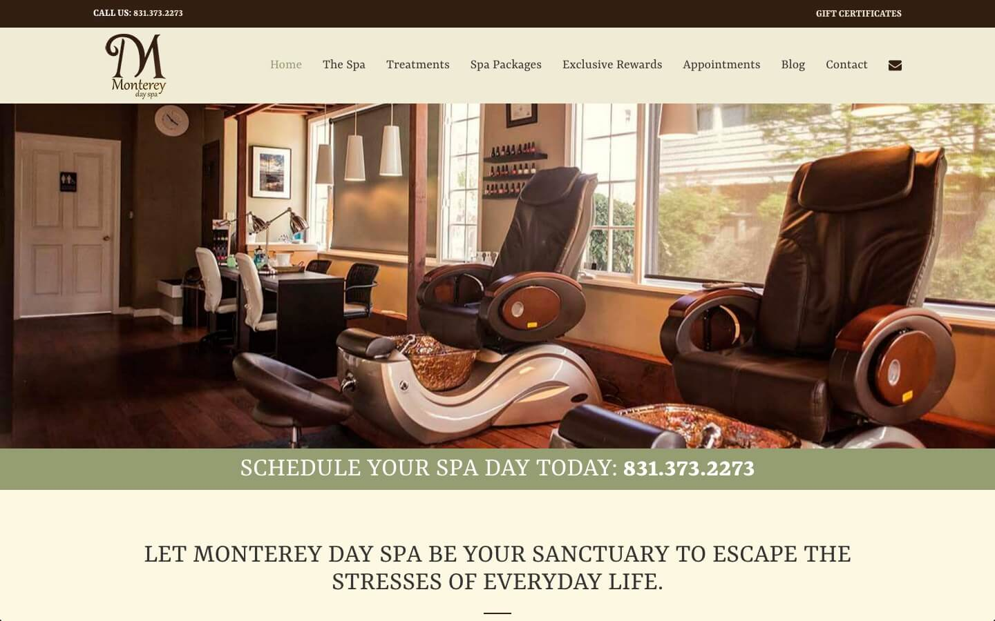 Spa Web Design