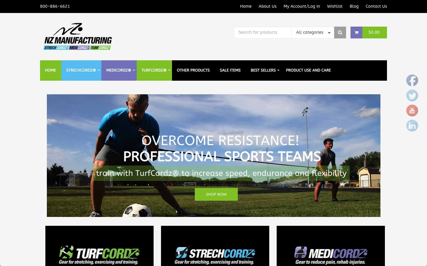 Sports Manufacturing eCommerce