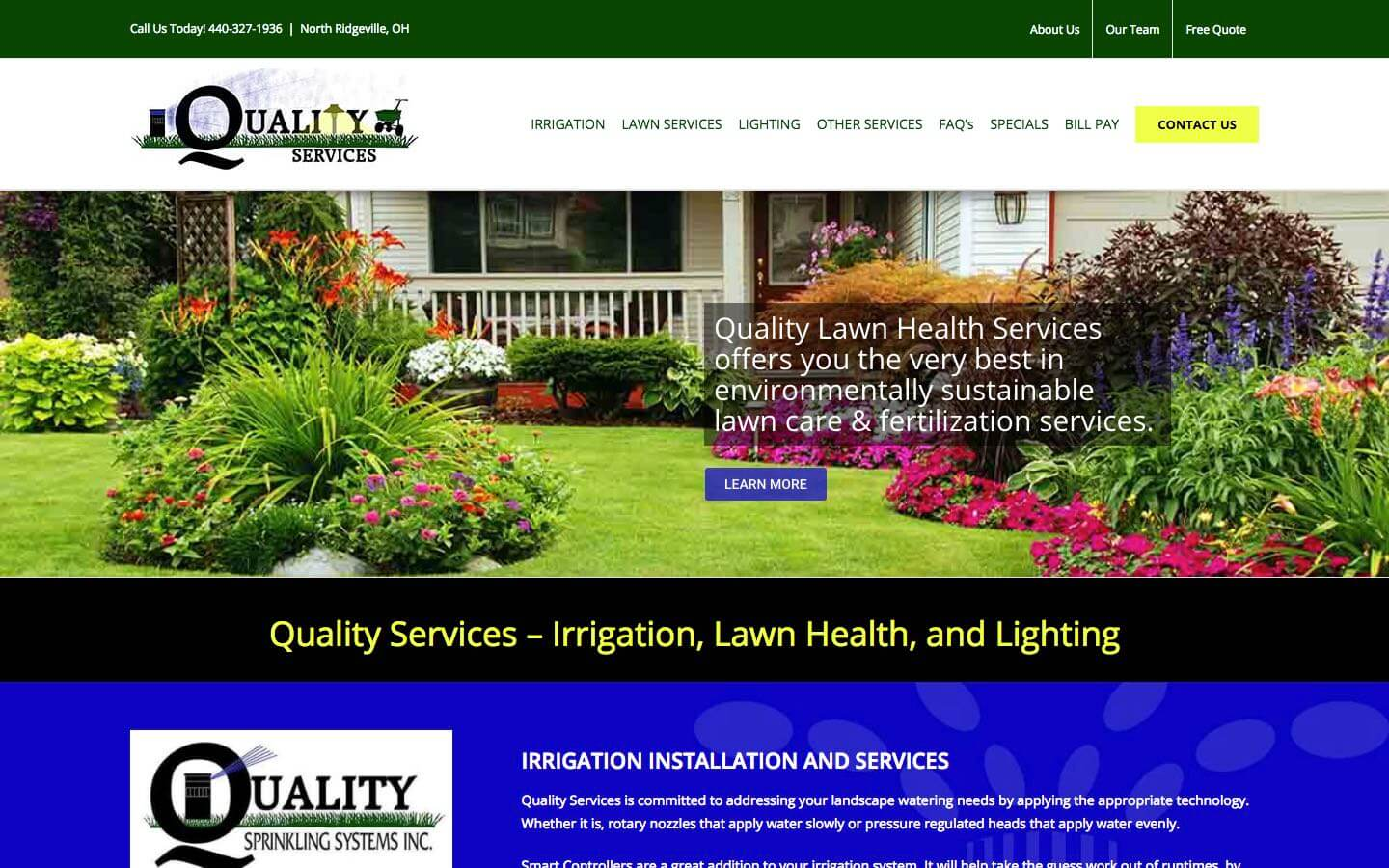 Lawn Care Web Design