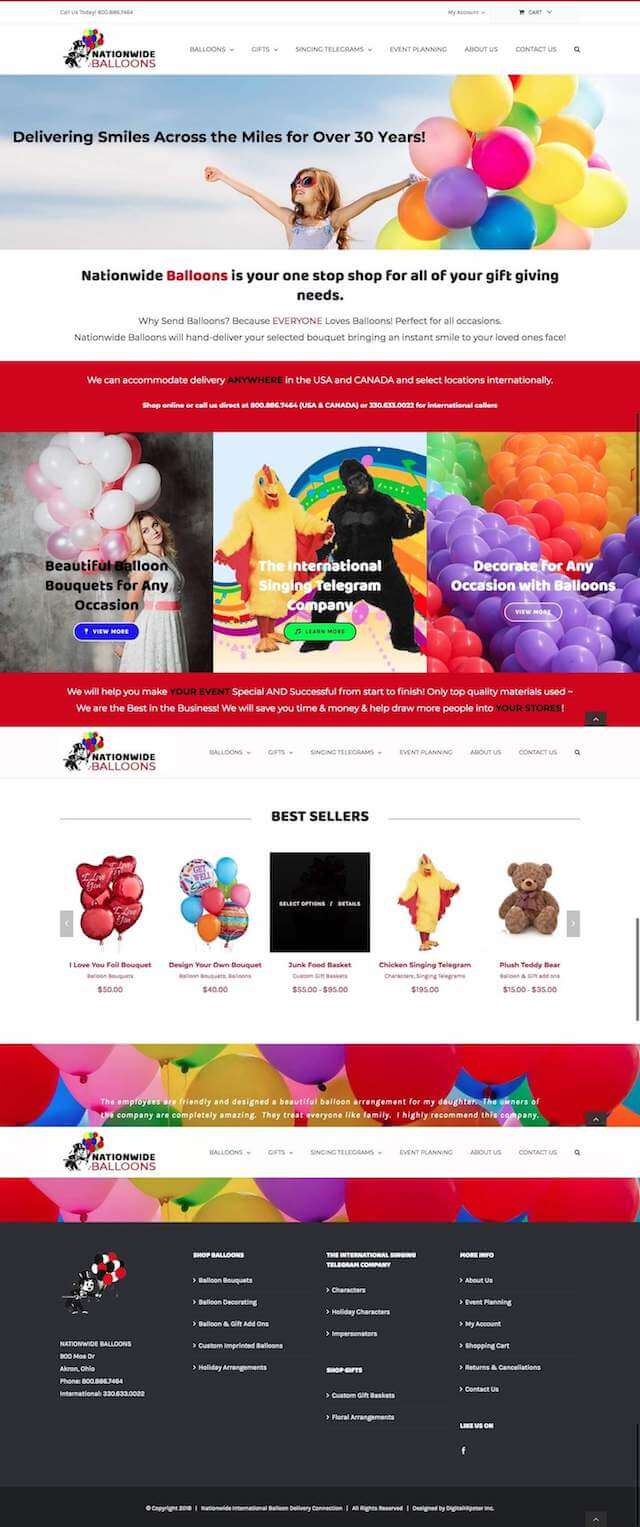 Balloon-Bouquet-Web-Design After