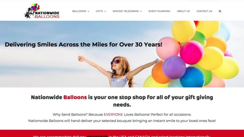 Balloon Bouquet eCommerce Development