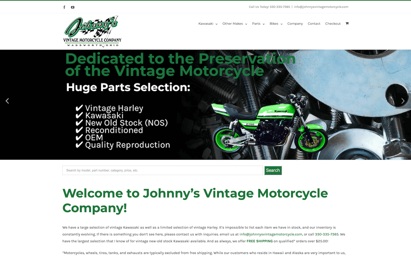 eCommerce Development – Motorcycle Parts